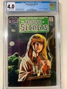 House Of Secrets 92 Cgc 4.0 1st Swamp Thing Off White To White Classic Key Dc