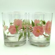 Franciscan Desert Rose Glass Double Old Fashioned 12 Oz Tumbler 4 1/8 Inch Set 4