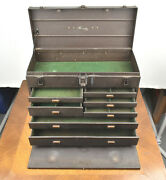 Vintage Kennedy Kits Metal 7 Drawer Heavy Duty Machinist Tool Box Chest No Key
