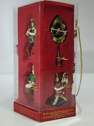 Fitz And Floyd 12 Days Of Christmas Ornaments Complete Set Nib