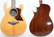 Used Yamaha Ac1m Vn Acoustic Electric Guitar Cutaway Player Grade Free Shipping