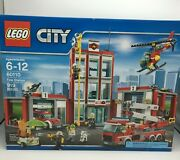 Lego 60110 City Fire Station New/sealed 919 Pcs Fire Truck Fire Helicopter