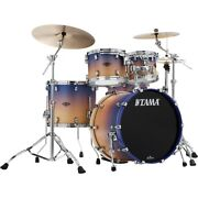 Tama Starclassic Walnut/birch 4-piece Shell Pack 22 Bass Purple Atmosphere Fade