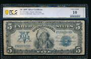 Ac Fr 275 1899 5 Silver Certificate Pcgs 10 Details Chief