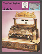 The Cash Register Circa 1880 Model In Photo Story Of America History Card