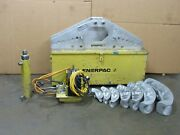 Enerpac One-shot Hydraulic Pipe Bender Set S-342 1-1/4 To 4 W/ Electric Pump
