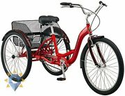 Speed Adult Trike Tricycle 3 Wheel Bicycle Cruise Shopping Cargo Basket 26 Inch.