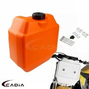 Orange Front Fork Auxiliary Fuel Tank 1.3 Gal For Honda Yamaha Rm Drz Off Road