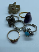 Job Lot Of Mixed Vintage And Modern Costume Rings - Vintage Jewellery Joblot