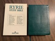 Niv 1984 Ryrie Study Bible - Teal Green Bonded Leather - Out Of Print 84