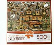 Charles Wysocki Trick Or Treat Hotel Halloween 500 Piece Puzzle Buffalo Complete