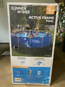 Summer Waves 15andrsquox 42 Above Ground Swimming Pool Metal Active Frame Set
