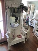 Beautiful Antique Hall Tree - Shabby Chic - Cottage - Farmhouse Style