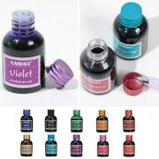 Rich Bright Colours Fountain Pen Ink In Glass Bottle F5v8
