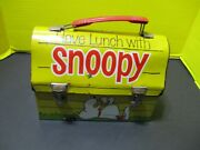 Snoopy Doghouse Metal Thermos Lunchbox, 1968, No Thermos, Peanuts