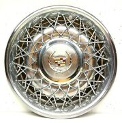 Cadillac 1980and039s Wire Wheel Hubcap Deville Fleetwood Sedan Coupe Hub Cap Cover