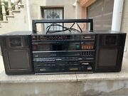 Vtg Jvc Pc-w310 Boombox Stereo Radio Cd And Cassette Player Recorder Works Rare