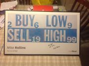Mike Rollins Poster Buy Low Sell High Signed Frame Stock Market Ticker Michael