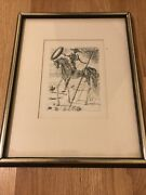 Salvador Dali - Don Quixote - Vintage Etching Signed In The Plate