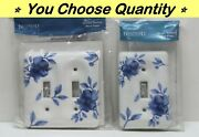 🌼 Brainerd Ceramic Single Double Toggle Light Switch Plate Cover Floral Flowers