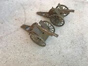 Lot-2 Vintage Metal Toy Cap Cannons Marked Japan