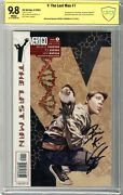 Y The Last Man 1 Cbcs 9.8 Nmmt White Pgs 9/2002 Signed By Bryan K