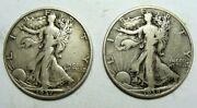 1937 S And 1938 Better Date Walking Liberty Half Dollars, Free Shipping