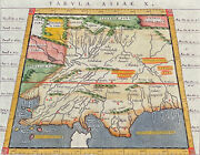 Ptolemy - Map Of India, Asia. 17, 1621 Original Hand-colored Engraving