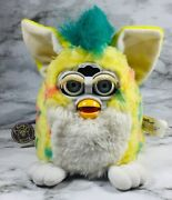 """1999 Tiger Electronics """"yellow Confetti"""" Furby Babies With Tag Doesnt Work🎁"""