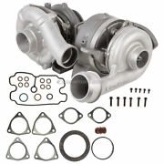 For Ford F250 F350 F450 6.4 Dsl Compound Turbo Kit W/ Turbocharger Gaskets