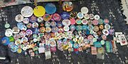 Huge Lot Of Vintage Disney Buttons Rare Coporate And 1990sand2000s Vintage Buttons