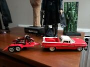 Tootsie Toy 1969 El Camino With Trailer And Motorcycle.