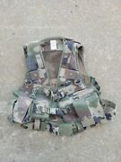 French Military Combat Vest   Woodland Camo