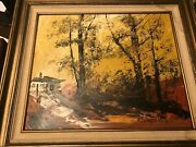 Original American Listed Artist Morris Katz Famous Art Signed And Dated 1978