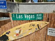 Welcome To Fabulous Las Vegas Blvd Authentic Street Sign.