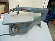 Sears Craftsman 113.236180 Vtg 16 Scroll Saw Variable Speed Cast Iron 1.2 Amp