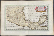 Sanson - Map Of Mexico. 55, 1692 Luyts Original Hand-colored Engraving