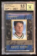 1996 Laser View Inscriptions Auto 9 Brett Favre Bgs 9.5 Gem 10 Super Bowl Year