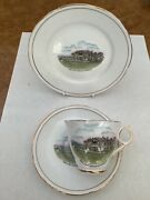 Golf Collectibles Fine China Randa 18th Green St Andrews Trio Cup Saucer Plate