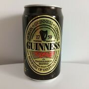 Vintage Japanese Guinness Beer Can 1980s Top Opened Empty Japan Ireland Irish