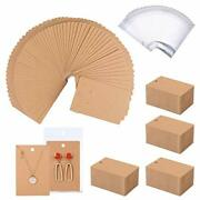 500 Pack Earring Cards - Earring Holder Cards With 500 Pcs Bags Earring Displ...
