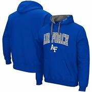 Air Force Falcons Colosseum Arch And Logo 2.0 Pullover Hoodie - Royal