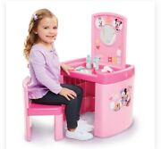 Disney Minnie Mouse Pop Up Pretend Nand039 Play Activity Table Set Salon W/ Chair New