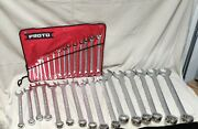 Proto J1200-90asd Combination Wrench Set Alloy Steel Satin 31 Number Of Tools