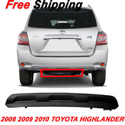 For 2008 2009 10 Toyota Highlander New Lower Bumper Cover Rear Primed To1115100