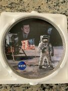 1993 Bradford Exchange The Eagle Has Landed Jfk Plate And Patch Numbered Rare Nasa