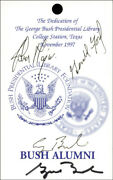 George W. Bush - Pass Signed Circa 1997 With Co-signers