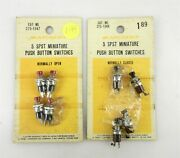 Radio Shack Japan 1547 1548 Spst Mini Pushbutton Switches 4 Red 4 Blacknos S23