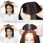 Hairpiece Clip In Human Hair Replacement System Top Topper Toupee Piece Wig D924