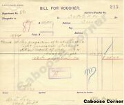 Rgs Signed By Otto Mears Bill For Voucher, Collectible, Request For Voucher 1892